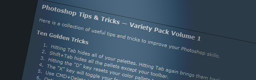 Photoshop Tips & Tricks – Variety Pack Volume 1