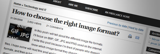 6. How to choose the right image format?